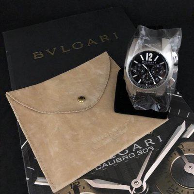 感謝收藏《三福堂國際珠寶名品1165》Bvlgari Ergon  EG40SCH 三環計時碼錶