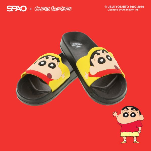 【Luxury】SPAO 聯名 第二彈 蠟筆小新 野原新之助 防水拖鞋 小白 妮妮 風間 正男 阿呆 韓國代購