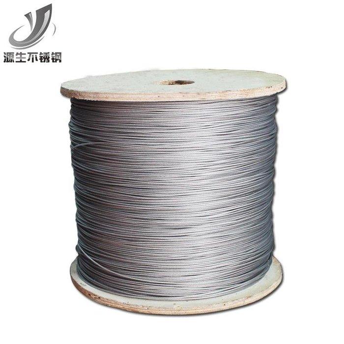 爆款 304不銹鋼包塑鋼絲繩 2mm包膠涂塑鋼絲繩 晾衣繩葡萄架繩7*7#配件#不鏽鋼#五金用品