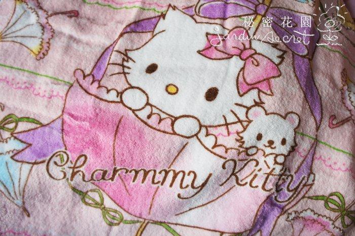 日本進口三麗鷗日本製凱蒂貓kitty浴巾/兒童浴巾-60*120cm--秘密花園