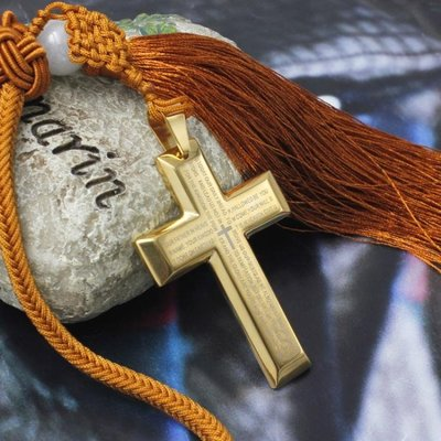 英文圣經十字架汽車掛件基督教禮品平安掛飾車用車載飾品車內用品