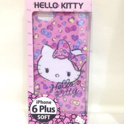《東京家族》粉 豹紋 Kitty i phone 6 plus 5.5吋手機軟殼