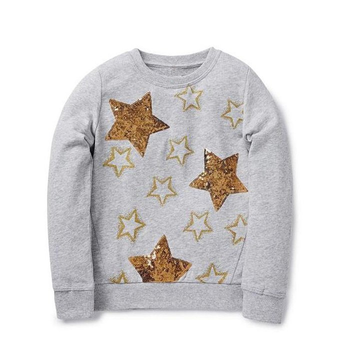 ☆草莓花園☆BM-1343 金色星星  歐美風兒童長袖衣服 毛圈上衣T恤 純棉童  女童  童T恤
