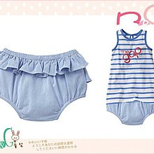 【B& G童裝】正品美國進口GAP Stripe ruffle bloomers 直條紋裙襬邊包屁短褲3-6-12mos