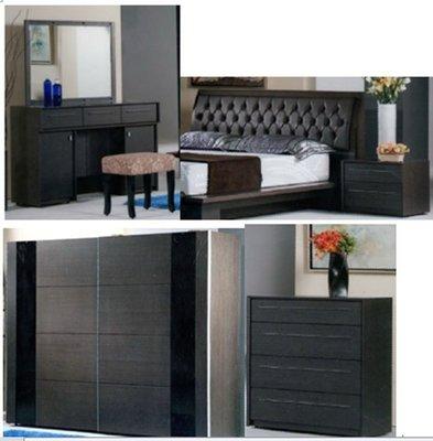 【尚品家具】815-06 歐估5尺鐵刀色床組/居家房間床組/出租屋床組/Bedroom Furniture