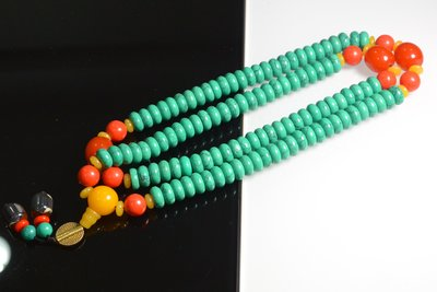 [天地居]  綠松石珠項鍊 108顆