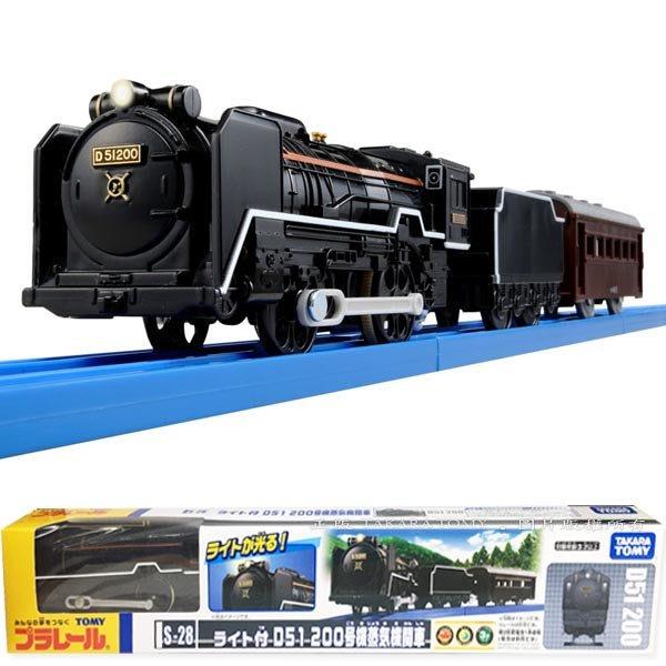 【3C小苑】TP43679 麗嬰 正版 多美 PLARAIL 鐵道王國 S-28 D51 (燈) 蒸氣火車 不含軌道