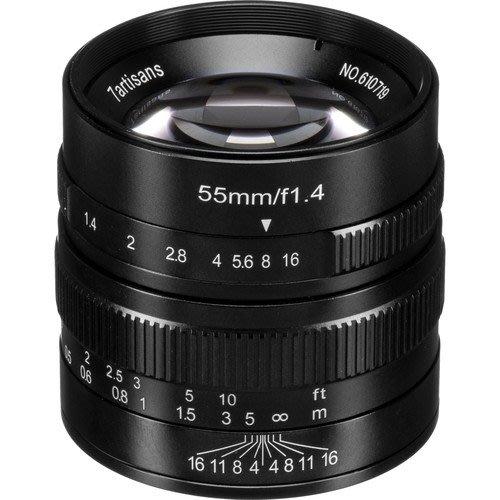 7工匠微單鏡頭55mm f/1.4 Black - A501B/A502B/A503B/A504B