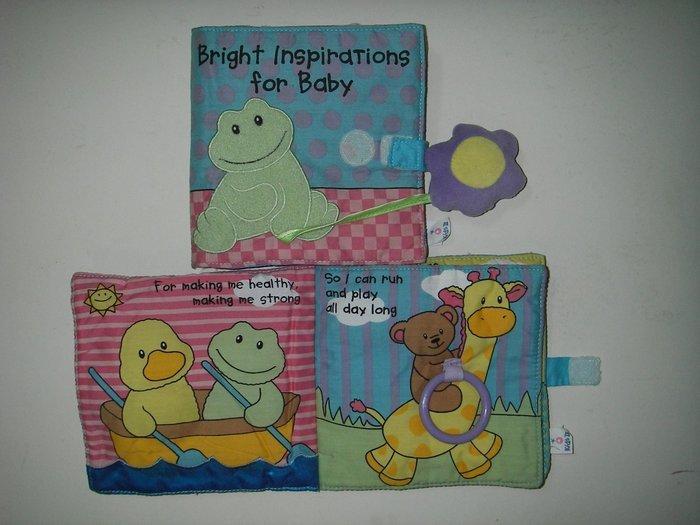 二手KIDSII青蛙和小花布書 Bright Inspirations for baby 英語布書 美語兒童書