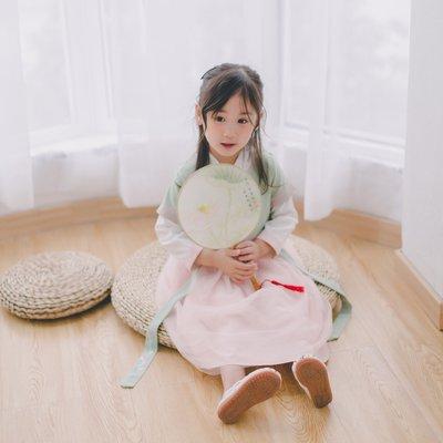 漢服 連身裙 長裙 童裝 旗袍唐裝女寶寶復古春秋裝套裝女孩中國風童裝兒童古裝女童漢服秋改良