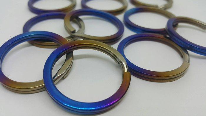 正鈦合金鑰匙圈/燒鈦鑰匙圈/漸層燒色鑰匙圈/機車鑰匙圈/鈦合金鑰匙圈