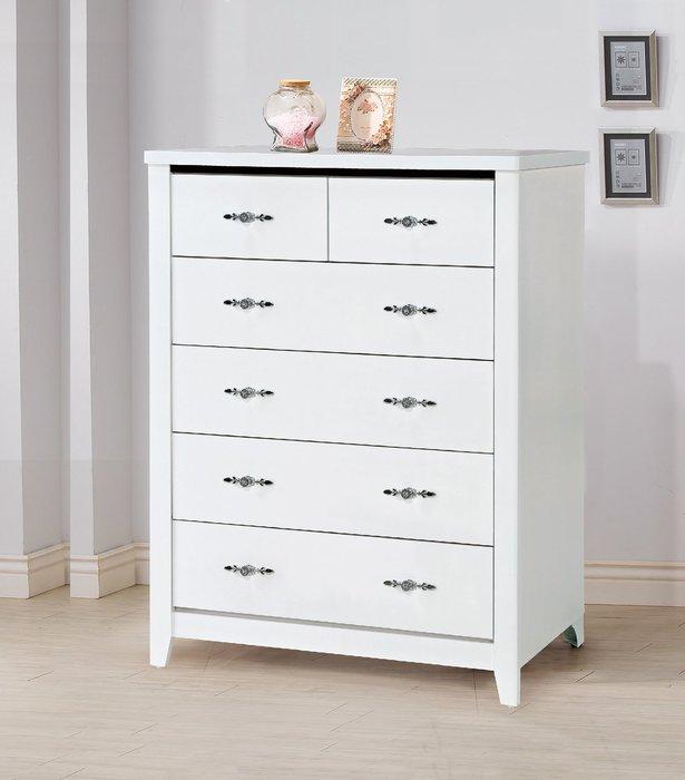 [歐瑞家具]YA205-5 白色3尺五斗櫃/系統家具/沙發/床墊/茶几/高低櫃/床組/餐桌椅/1元起/高品質/最低價