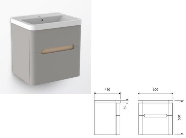 《E&J網》美國 HUNTINGTON 星動浴櫃 (淺灰色) H11100WG 防水浴櫃盆組 詢問另有優惠