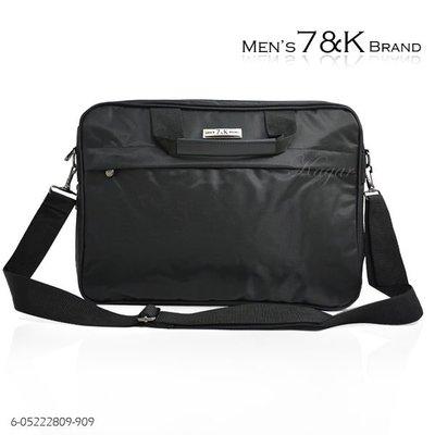 加賀皮件 7&K 電腦包 公事包 可放A4 手提側背包 可加大 雙主層 多功能  909