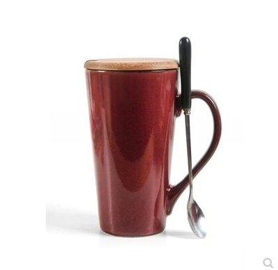 馬克杯大容量個性陶瓷杯子帶蓋勺簡約咖啡杯創意水杯家用情侶茶杯CY
