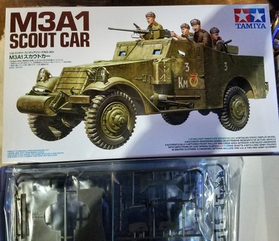 new tooling-新金型-Tamiya-田宮-1/35- 35363-M3A1-Scout car-w/crew-M-077