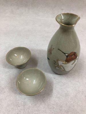 日本九谷燒清酒瓶組