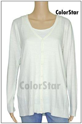 [ColorStar] 日本帶回 白色 寬版 舒適 薄外套 上衣,外出、交友、旅遊穿搭好選擇,喜歡日系美女千萬不要錯過!