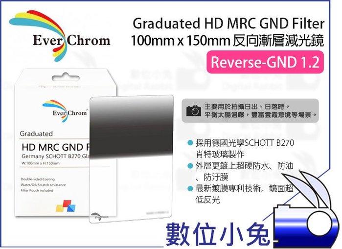 數位小兔【EverChrom R-GND 1.2 方形 反向漸層減光鏡】贈磁鐵框 送完為止 ND16 100x150mm