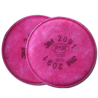 缺貨~附發票 *東北五金*工業用 防塵霾3M-2091 P100級濾棉[粉塵過濾效率達99.97%以上] 口罩 [2入]
