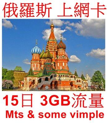 【杰元生活館】 俄羅斯 土耳其 上網卡 15日 3GB流量  可在台灣、香港、澳門、中國激活