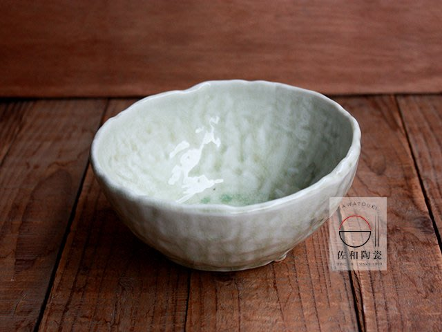 +佐和陶瓷餐具批發+【XL071119-1綠手造三足6缽-日本製】日本製 碗缽 餐具 湯碗 6吋缽 食器 飯碗
