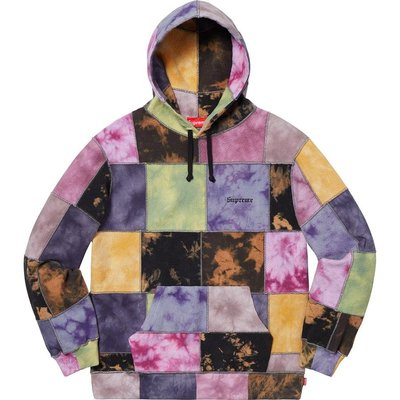 【美國鞋校】預購 SUPREME SS19 Patchwork Tie Dye Hooded Sweatshirt