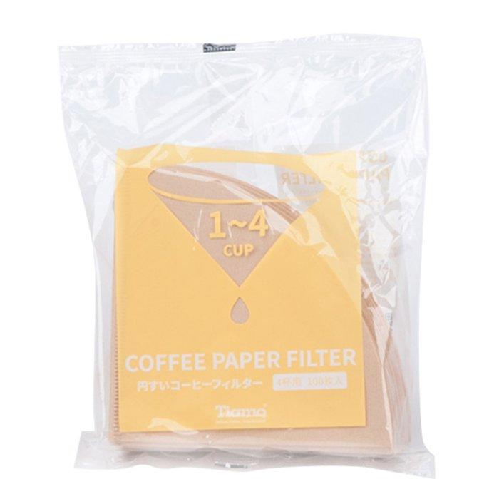 Tiamo堤亞摩咖啡生活館【HG5597】 V02 漂白圓錐咖啡濾紙 1-4人 100入日本製(HG5597)