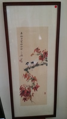 【準提坊】30年前嶺南派畫作 花鳥