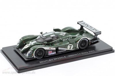 【MASH】[現貨特價]  Spark 1/43 Bentley Speed 8 #7 2003 冠軍