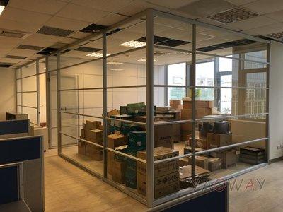 【耀偉】鋁框高隔間 (辦公桌/辦公屏風-規劃施工-拆組搬遷工程-組合隔間-水電網路)3