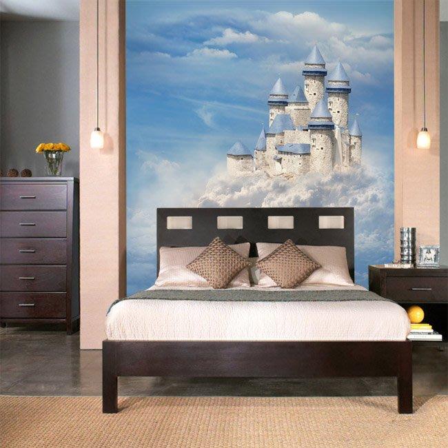 客製化壁貼 店面保障 編號F-148 天空城堡 壁紙 牆貼 牆紙 壁畫 星瑞 shing ruei
