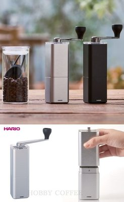 【豐原哈比店面 】 HARIO MSA-2-SV高 方型鋁合金 陶瓷刀盤 便攜式手搖咖啡磨豆機