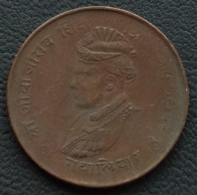 印度   瓜廖爾土邦     1942年    1/4 ANNA    銅幣   280-902