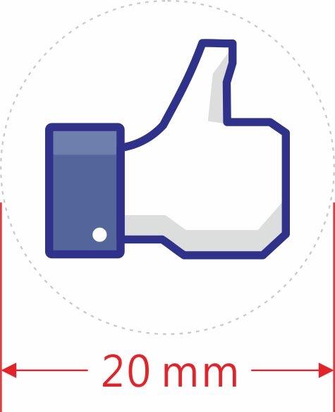 透明貼紙-2公分圓型