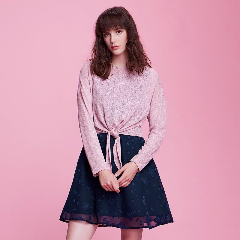 【Amily】秋季女裝2018新款大碼洋氣套裝胖mm減齡遮肚子藏肉連衣裙兩件套潮
