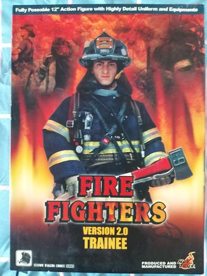 Hot Toys12吋 Fire Fighters Version 2.0 Trainee 可動人型玩偶公仔 消防救火員