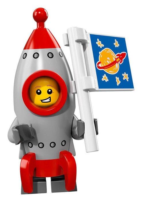 【LEGO 樂高】2017最新 積木/ Minifigures人偶包系列:17代 71018   #13 火箭男孩+旗子