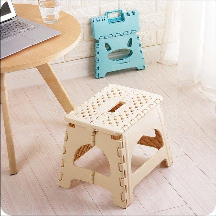 可折疊塑膠凳子兒童小椅子成人便攜戶外折疊凳家用換鞋凳馬紮板凳(大號)_☆優購好SoGood☆