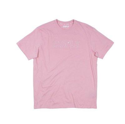 【Your Store】美牌 Staple Pigeon 2018新款 Tonal Logo 刺繡短T 粉紅色