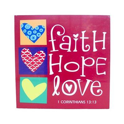 水晶無框畫-FAITH HOPE LOVE|結婚禮物|家居掛畫|基督教禮品