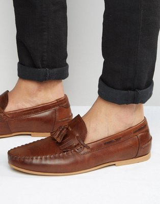 ◎美國代買◎ASOS英倫雅痞風帶點仿舊質感的流蘇休閒帆船皮鞋~歐美街風~大尺碼~