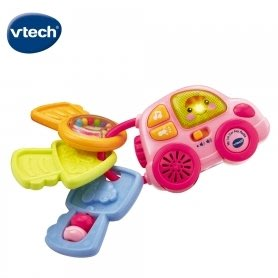 Vtech-聲光鑰匙小車-粉(150653)
