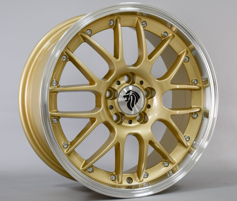 ╭☆輪鋪☆╯類BBS RSGT 16吋4孔100/5孔100 金色鋁圈