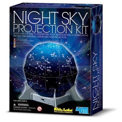 [木馬家]創意星空【瑋恩書店】4M Create A Night Sky Projection Kit 太空 星星 夜景
