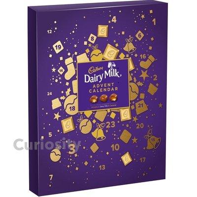 【Curiosity】英國 Cadbury耶誕節倒數日曆聖誕節倒數曆巧克力258g(24入) $690↘$529