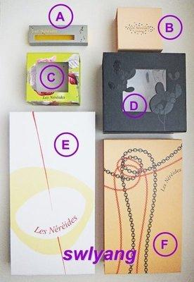 Les Nereides N2 限量 絕版包裝盒 紙盒 收納盒 禮品盒 禮物盒 蕾娜海 桃園市