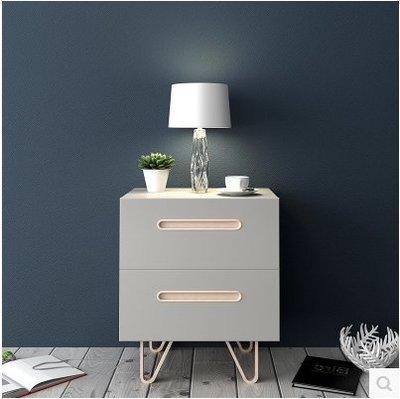 『格倫雅』北歐風格實木床頭櫃收納櫃現代簡約臥室家具抽屜儲物櫃床邊櫃^1771