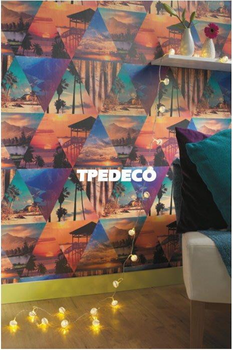 【大台北裝潢】英國Holden進口壁紙FU* Escape To Paradise 三角形風景 每支4500元