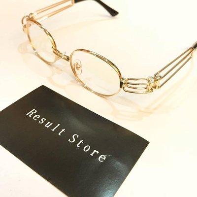 【Result】復古 饒舌歌手愛用 金框多邊造型 眼鏡 Hiphop Wiz khalifa Thug life